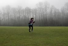 frightened runner
